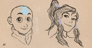 Avatar sketches by bealor