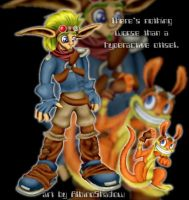 Jak and Daxter by albinoshadow