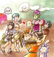 Naruto meets Dragonball by Gigei