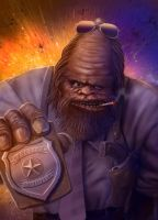 Bigfoot Cop by Vaghauk