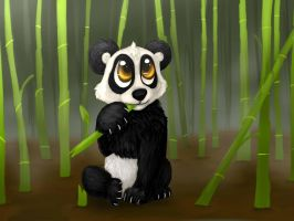 Panda For Ca Project by safirethedragon