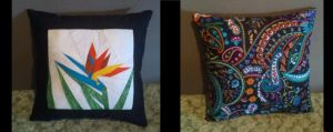 Bird of Paradise Pillow by technoplasma