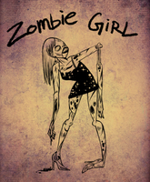 zombie girl - day 12 by mosuga