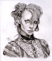 Emilie Autumn Portrait by De1in