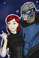Kate Shep Garrus Commission by Adre-es