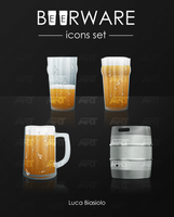 beerware icons set by bisiobisio