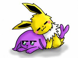Espeon And Jolteon by alexdream12