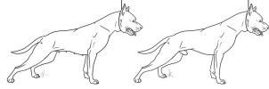 Show cropped pit bull lineart by Gutter-Mutt