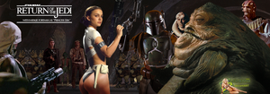 Natalie Portman|Leia Slave|Captured by Jabba Hutt by c-edward