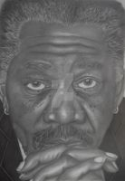 Morgan Freeman by HevMcA