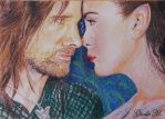 ACEO - Long Years have Passed - watercolor by Giselle-M
