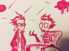 Art from early December- Invader Zim  by jenisnotcool