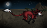 Comm - Night Falls by Dragon-Wolf-Lover