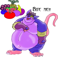 Lodoss the Fat Jello Rat by FatAnthroClub