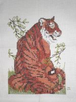Tiger Cross Stitch by Shiori500