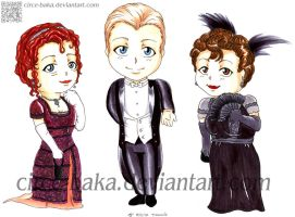 Rose, Jack and Molly Chibis :Titanic: by Circe-Baka