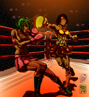 colored Yin vs. Noel 2 by Ohthehumanityplz by MasterSaruwatari