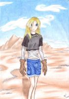 Terra and background by ashkey