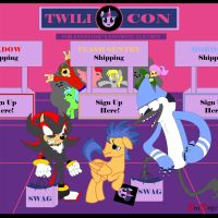 Comm: Shadow Flash and Mordecai - Fun at the Con by BroDogz