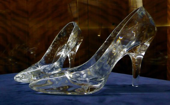 Glass slippers at Dartington Crystal by points2017