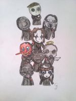 Chibi Slipknot by ClearGuitar
