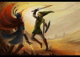 Link vs Ike by EternaLegend