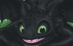 FanArt toothless by Digigeng83