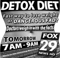 Detox Diet Newsprint Ad by PatrickJoseph