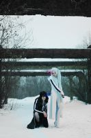 White Rock Shooter and Kaito BRS cosplay by Push-sama