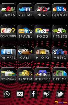 Dark Style Android Folders + 5 social apps by caniodica