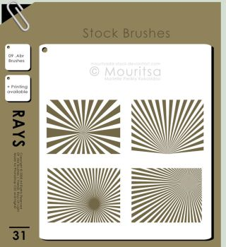 Brush Pack - Rays Of Light by MouritsaDA-Stock