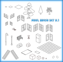 Random Isometric Pixel Brushes by xluluhimex