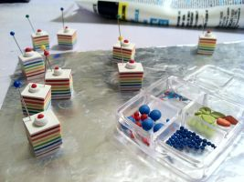 Rainbow Cake Charms by CuteTherapy