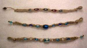 Hemp bracelets by simplysyd