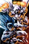 Batman and Moon Knight with effects by gammaknight