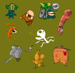 Pocket Characters by nube