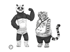 po and tigress weight switch by GumandPeanuts17