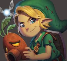 One face a day #66/365. Young Link (Majoras Mask) by Dylean