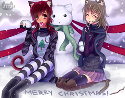 Merry Christmas X3 by Kattzu