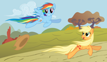 AJ and Dashie - Autumn run - not shaded by Stabzor