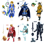 Final Fantasy Fancharacters by ShadowScarKnight