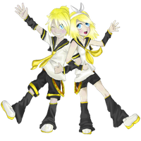 Rin and Len Kagamine by kitcatastrophic