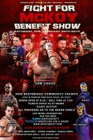 WFC The fight for McKoy benefit show flyer by Mohamed-Fahmy