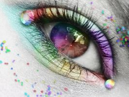 Rainbow Eye by xBoooo--Emilia--G
