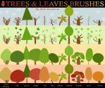 Trees and leaves brushes by nicolas-gouny-art