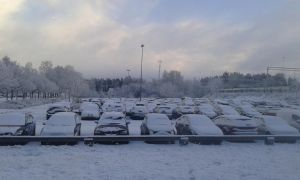 Snowy Parking Lot by HowToBeRadiant