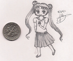 Serena Tsukino Tiny Drawing by OhsoFifi