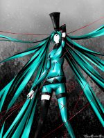 Hatsune Miku  .  Love is war by 1itt1e-1i