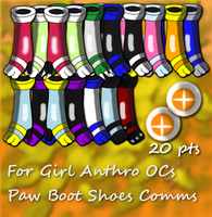 Paw boot model Commission Batch Examples For 20 pt by SeleanaMermaid-Kechi
