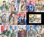Sgt. Fury sketchcards by MarcFerreira